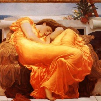 """Flaming June Frederick Leighton (1895)"
