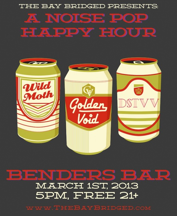 Noise Pop Happy Hour 2013 - Flier by Nic Buron