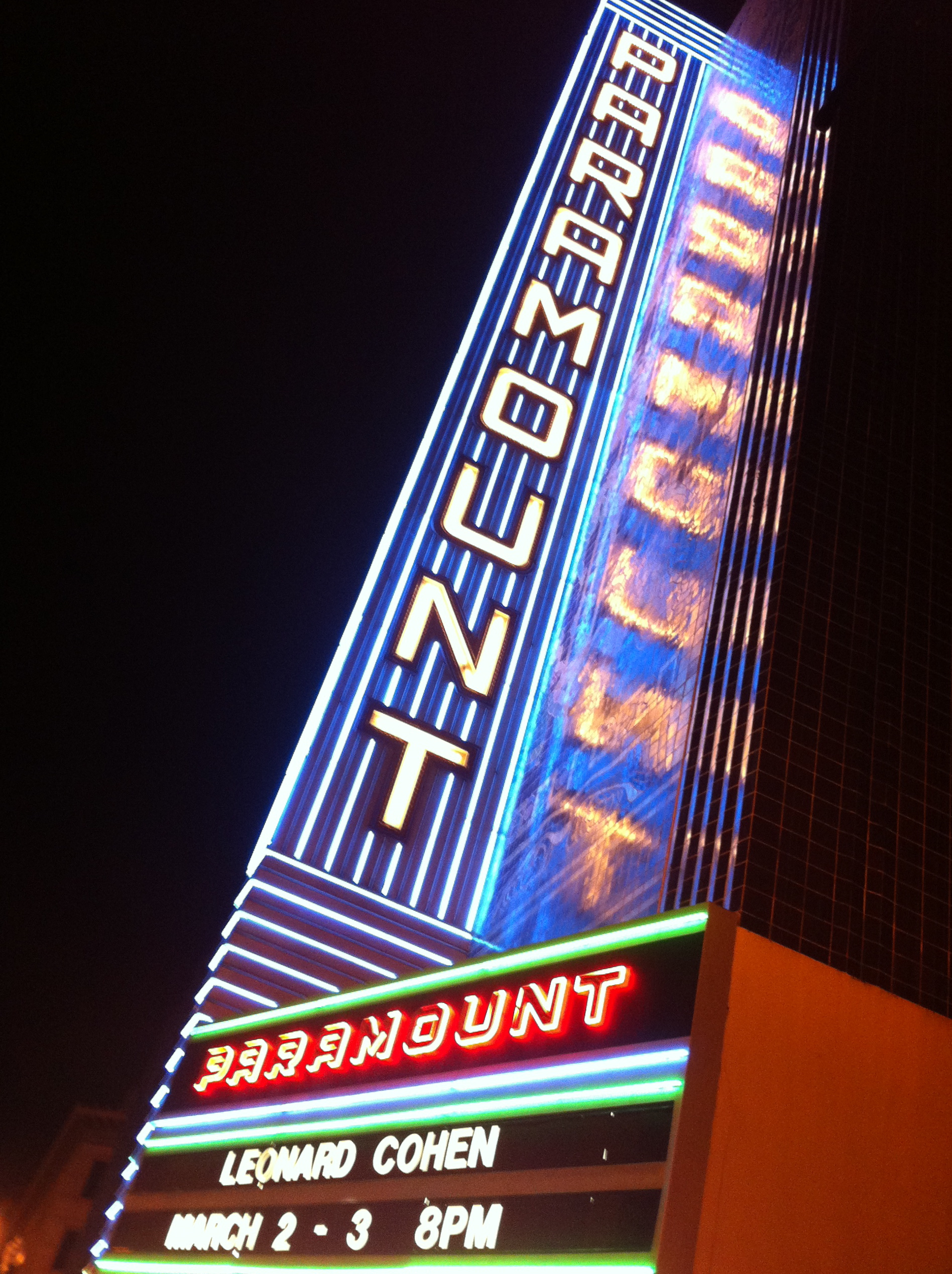Leonard Cohen at the Paramount, 3/2/13