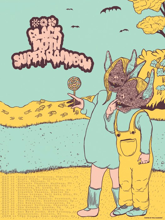 black moth super rainbow poster